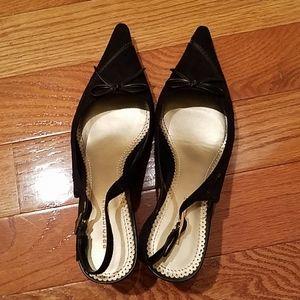 Pointed Black Heels